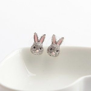 Kate Spade Silver Full Diamond Cute Bunny Earrings